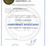 auditorské oprávnění společnosti č. 543