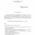 rozhodnutí ministerstva spravedlnosti ze dne 25.1.2013